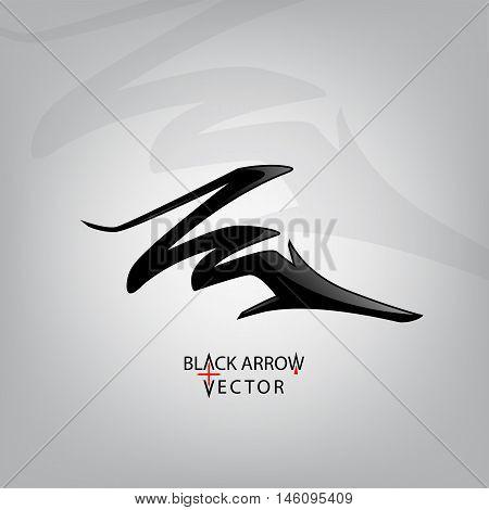 Icon arrow, black vector illustration. Arrow symbol