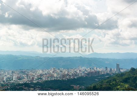 A cityscape view of the city of Bucaramanga Colombia