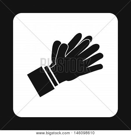 Clapping applauding hands icon in simple style on a white background vector illustration