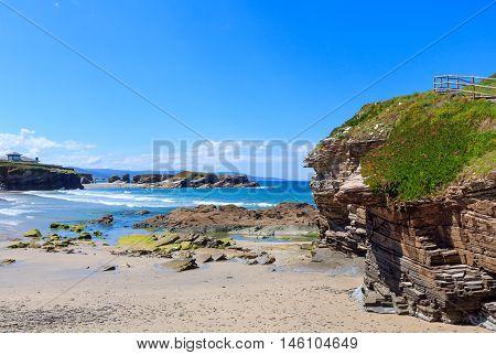 Los Castros Beach (galicia, Spain).