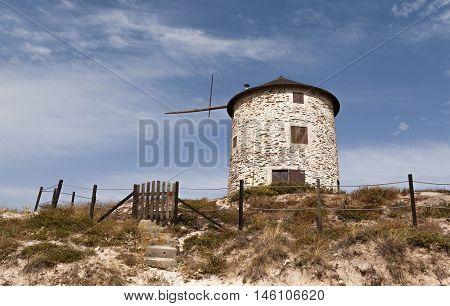 Windmill at Apulia -  Esposende, north of Portugal