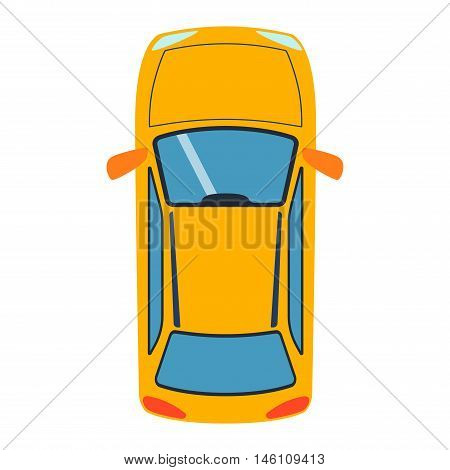 Vector car vehicle icon top view. From above car top view. Some vehicle transport isolated on white. Transportation vehicle design car top view motor van.
