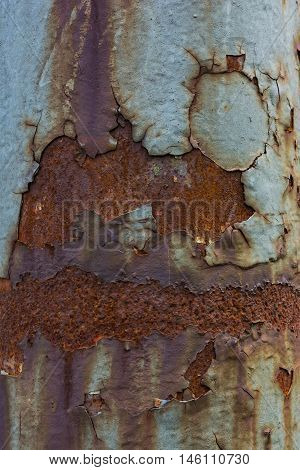 Rusted Light Pole Texture Macro Turqoise Metal