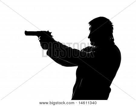 Silhouette Of Shooting Man