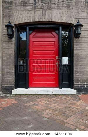 Red Door Old Building Savannah Georgia