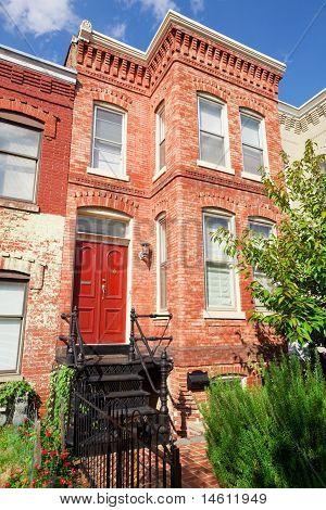 Red Brick Italianate Row House Home Washington Dc