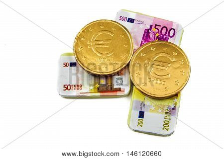 Chocolate Coins And Banknotes