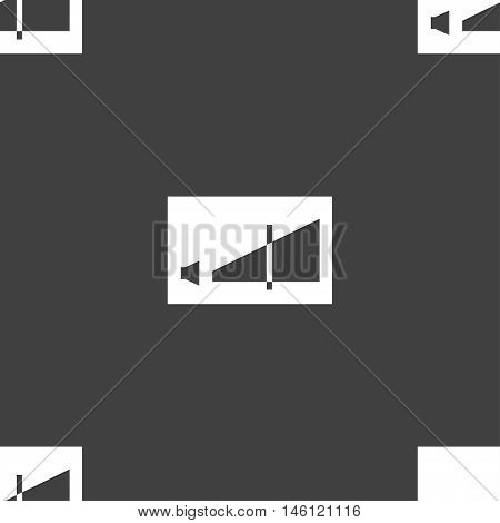 Volume Adjustment Icon Sign. Seamless Pattern On A Gray Background. Vector