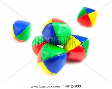 Isolated Colorful Juggling Balls