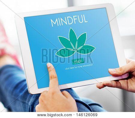 Meditation Healthcare Lotus Flower Graphic Concept