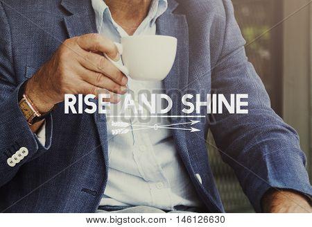 Rise and Shine Coffee Break Concept