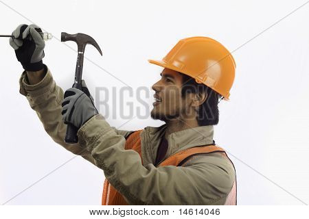 hard hat worker