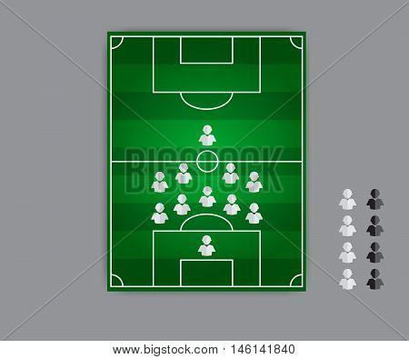 fail formation soccer tactics vector type 5:4:1
