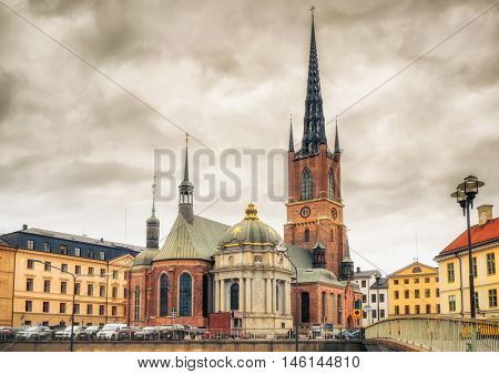 Riddarholm Church In Stockholm, Sweden