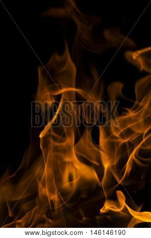 fire in nature . bokeh from the fire . blurred backgrounds . Space views