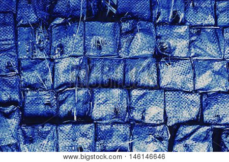 abstract stack of plastic wrap for background used