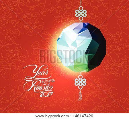 Oriental Chinese New Year. lantern Element Design