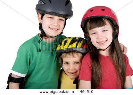 Children In Safety Gear