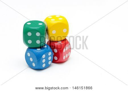 Dice concept for business risk chance good luck or gambling