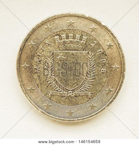 Vintage Maltese Euro Coin