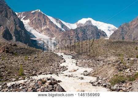 Sprign Starts From Small Aktru Glacier