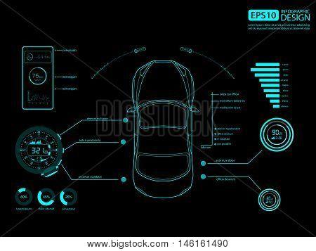 Car auto service infographics design, Auto mechanic. vector