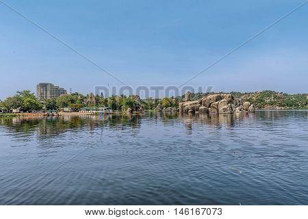 Rocks on the shore of Mwanza Lake Victoria Tanzania