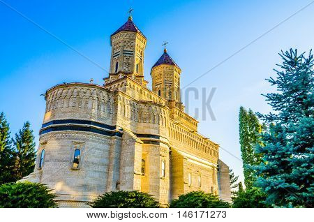 Beautiful and religious monastery in Cetatuia, Iasi town, one of the most famous architectural building of Christianity, in Romania - Eastern Europe