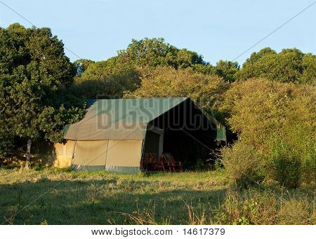 Luxury safari tent on Masai Mara