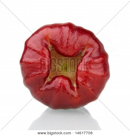 Bottom Of  Red Rose Apple
