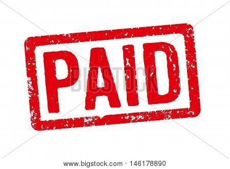 Red Stamp On A White Background - Paid