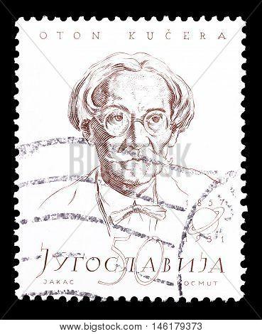 YUGOSLAVIA - CIRCA 1957 : Cancelled postage stamp printed by Yugoslavia, that shows Oton Kucera.