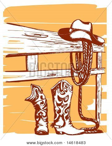 Cowboy Clothes And Elements Of Life