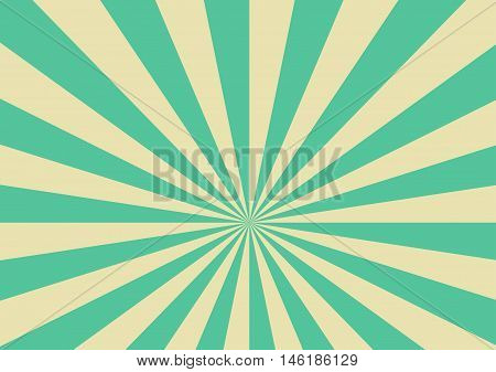 Old Vintage Background with Yellow and Mint Green Rays. Vector illustration retro and vintage theme classical background.