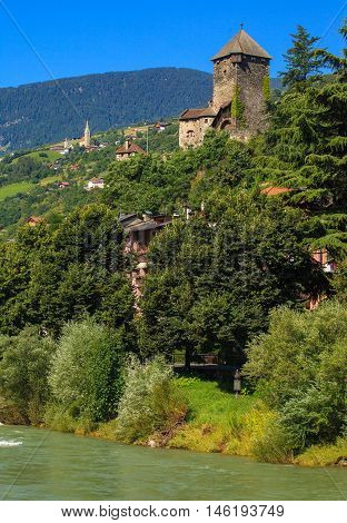 Beautiful Castle of Chiusa near Bolzano Northern Italy
