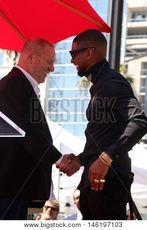 LOS ANGELES - SEP 7:  Harvey Weinstein, Usher Raymond at the Usher Honored With a Star On The Hollywood Walk Of Fame at the Eastown on September 7, 2016 in Los Angeles, CA