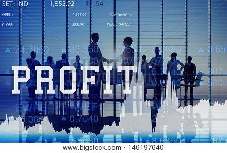 Profit Assets Benefit Financial Gain Gross Income Concept