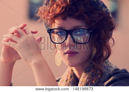 Portrait Of A Hipster Chick