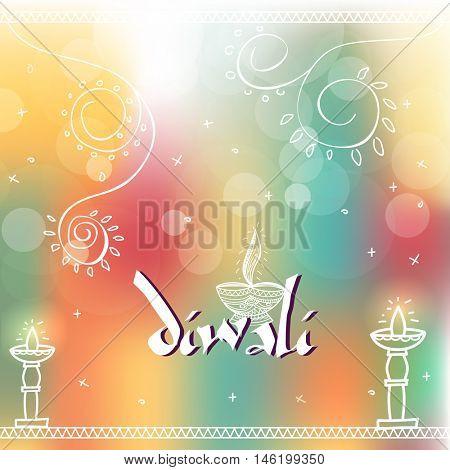 Indian Festival of Lights, Happy Diwali Celebration.