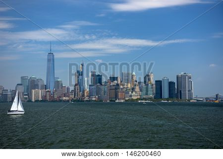 NY Sky panorama from the ferry