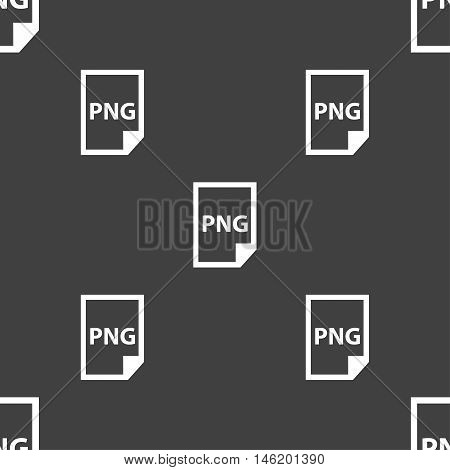 Png Icon Sign. Seamless Pattern On A Gray Background. Vector
