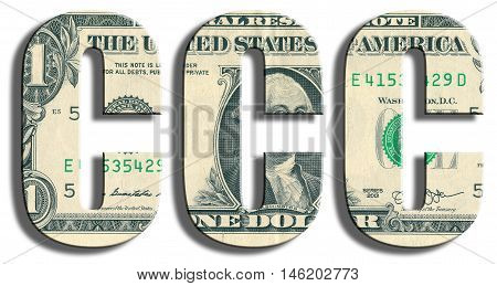 Ccc Or Triple C Credit Rating. Us Dollar Texture.