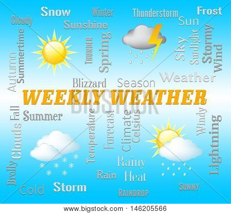 Weekly Weather Means Seven Day Forecast Or Metcast