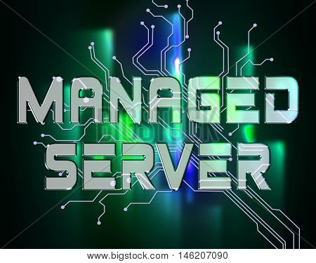 Managed Server Indicates Computer Servers And Connectivity