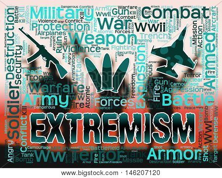 Extremism Words Indicates Radicalism Fundamentalism And Terrorists