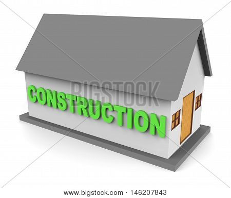 House Construction Means Building Houses 3D Rendering
