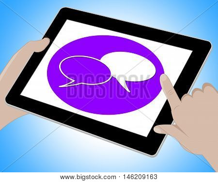 Voip Tablet Means Voice Over Broadband Computing 3D Illustration
