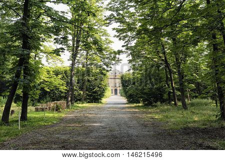 Castellazzo di Bollate (Milan Lombardy Italy): Villa Arconati historic palace built in the 17h century. Exterior with park at summer