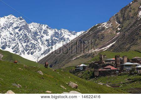 Ushguli - The Highest Inhabited Village In Europe. Upper Svaneti. Georgia.
