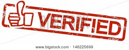 Red Stamp With Text Verified
